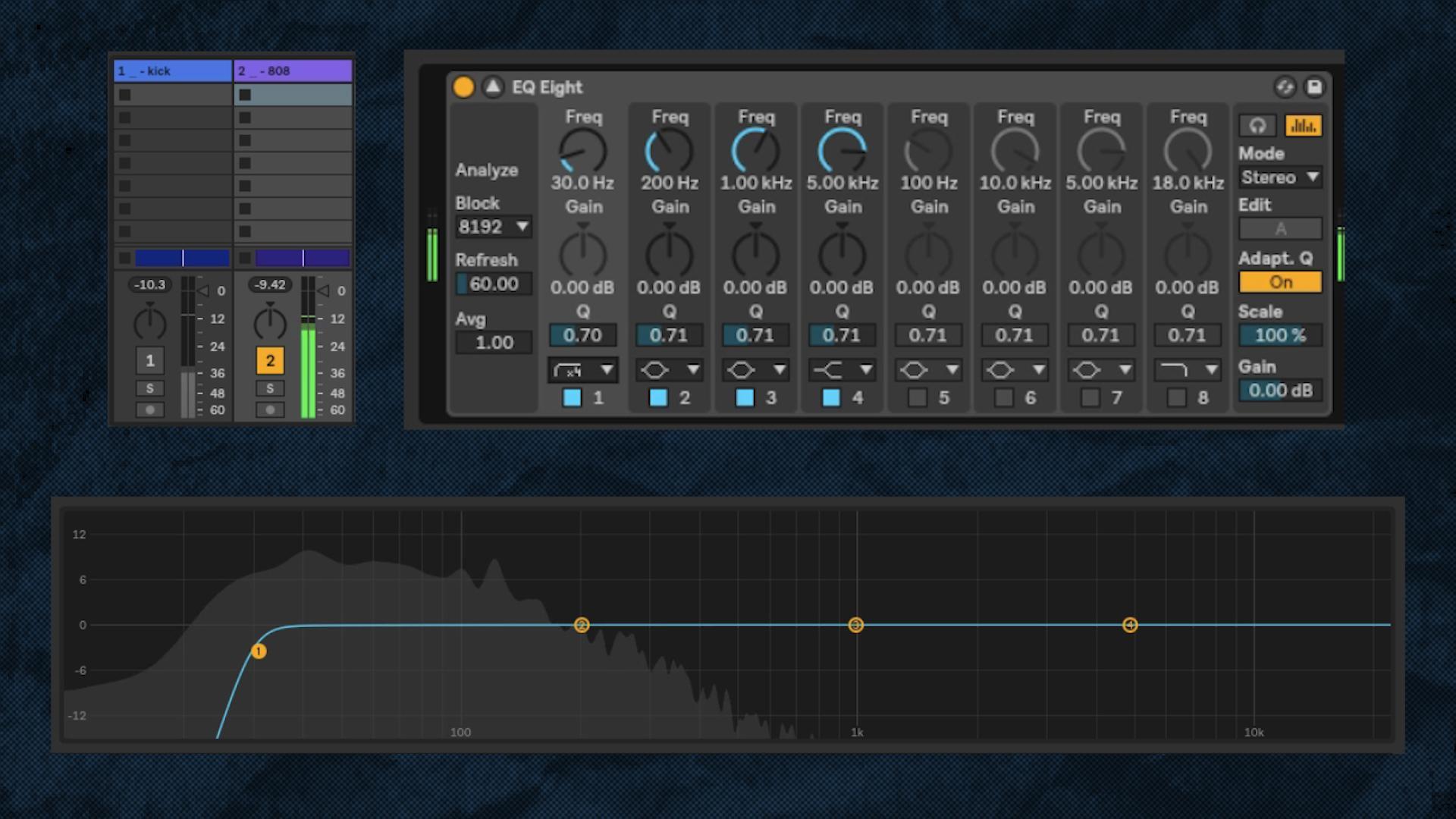 48 db/octave high-pass at 30 Hz