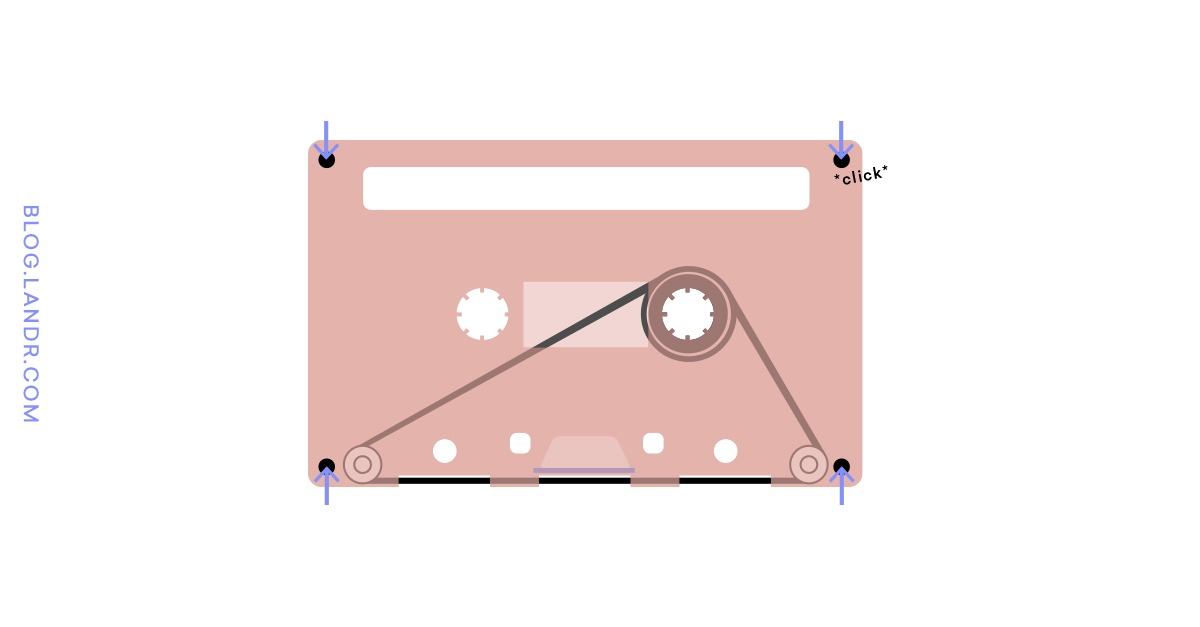 finishing the tape loop