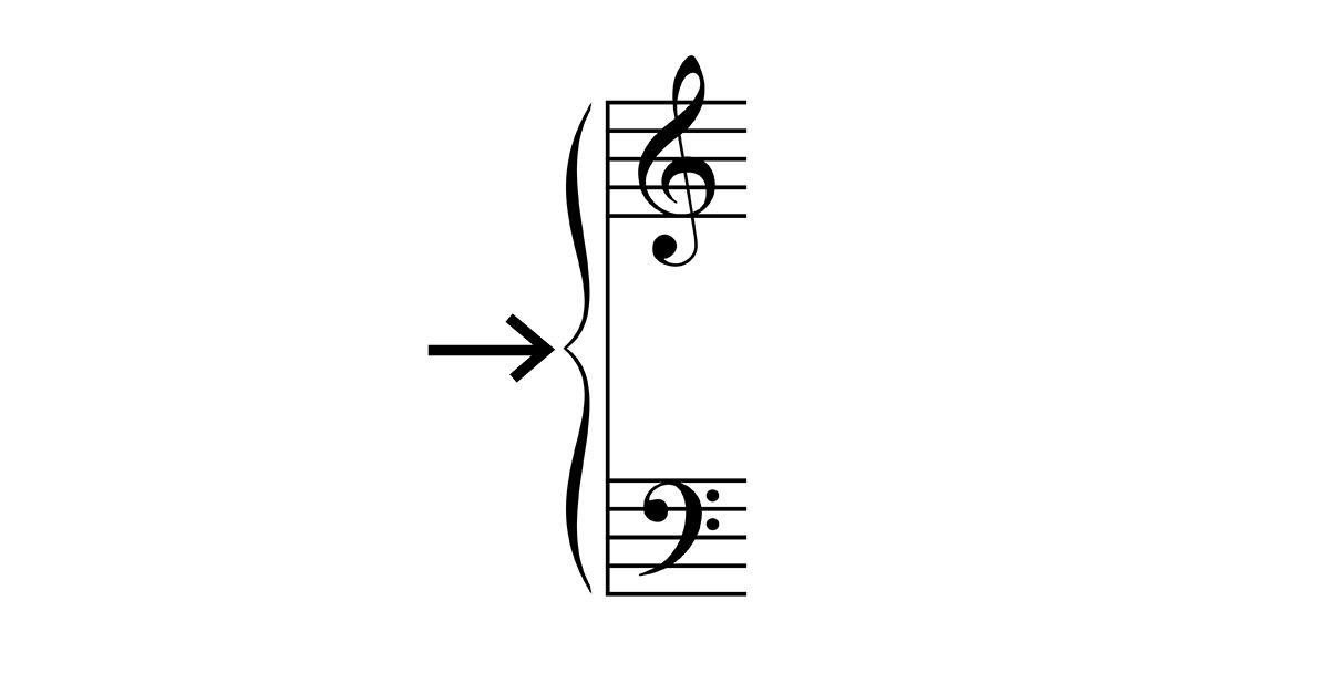 music brace symbol