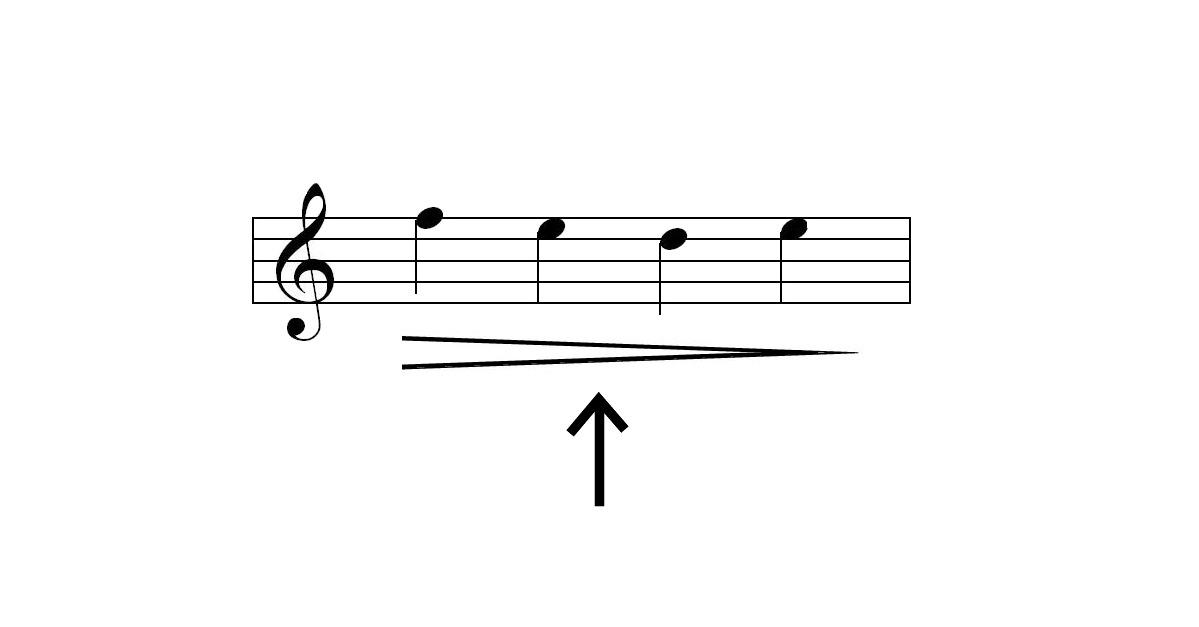 decrescendo symbol