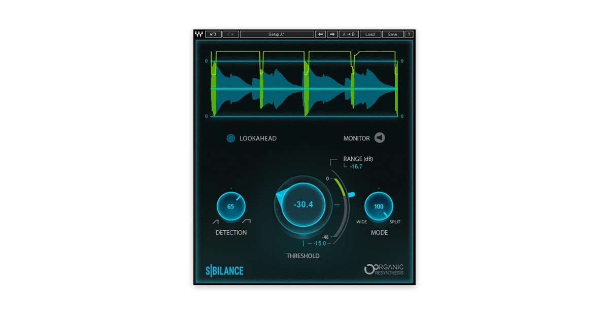 waves sibilance de-esser plugin