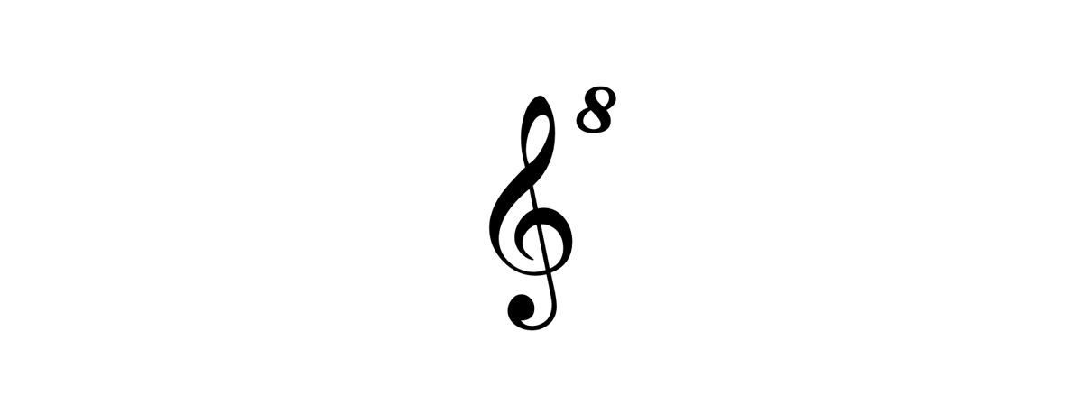 g-clef ottava alta symbol