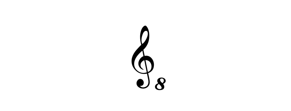 g clef ottava bassa symbol