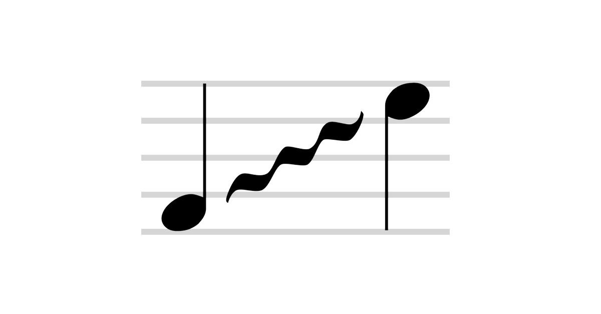 glissando symbol