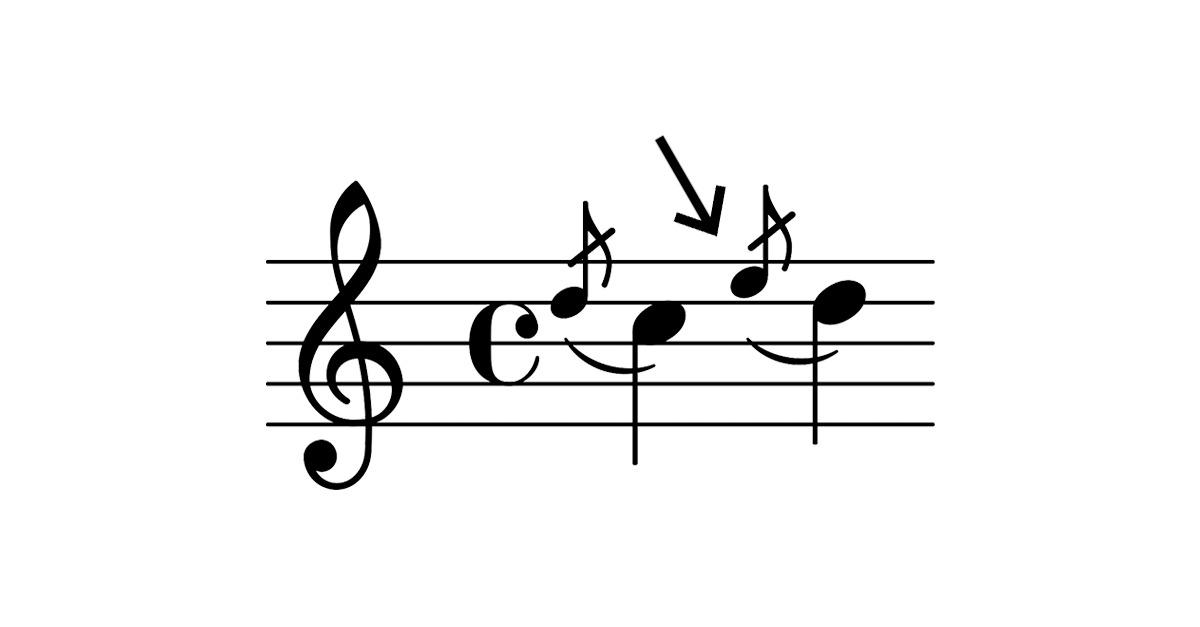 grace note symbol