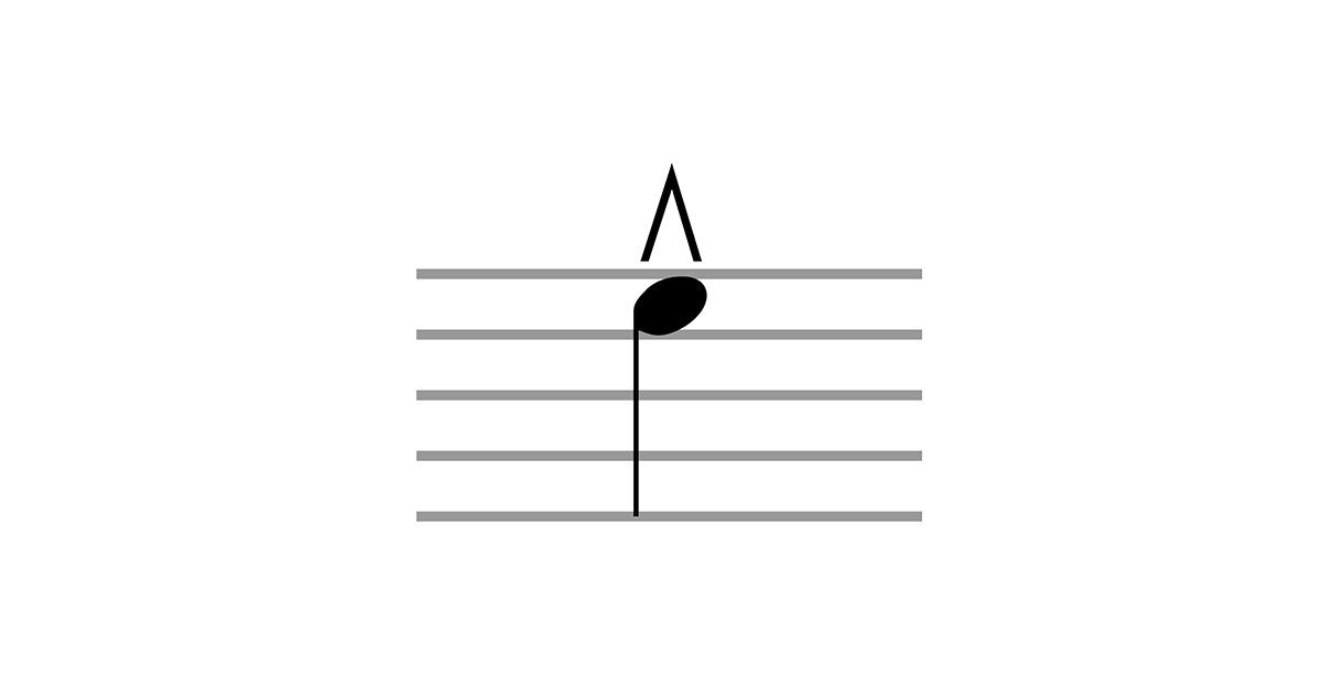 marcato accent symbol