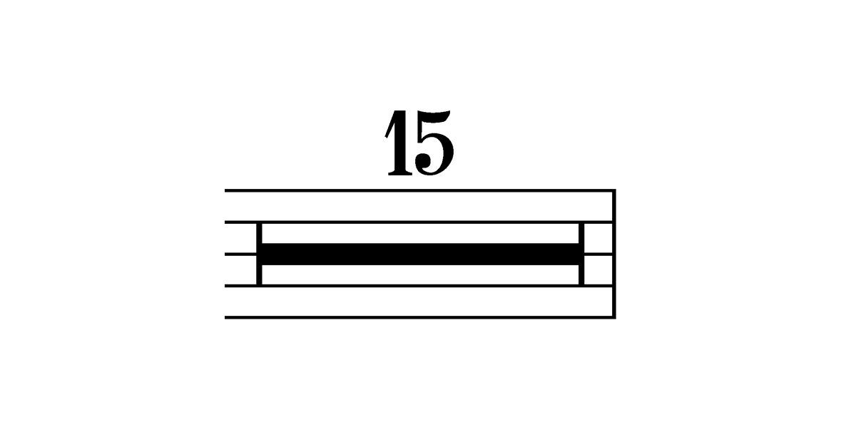 multi rest symbol