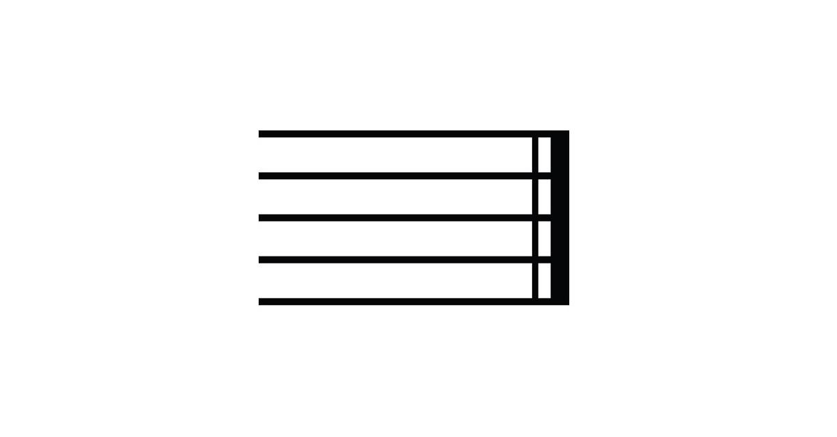 music end symbol