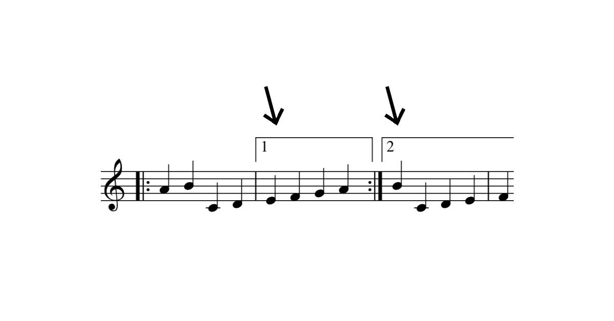 volta brackets symbol