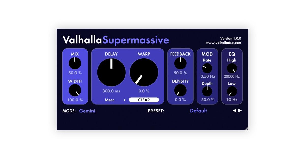 valhalladsp supermassive