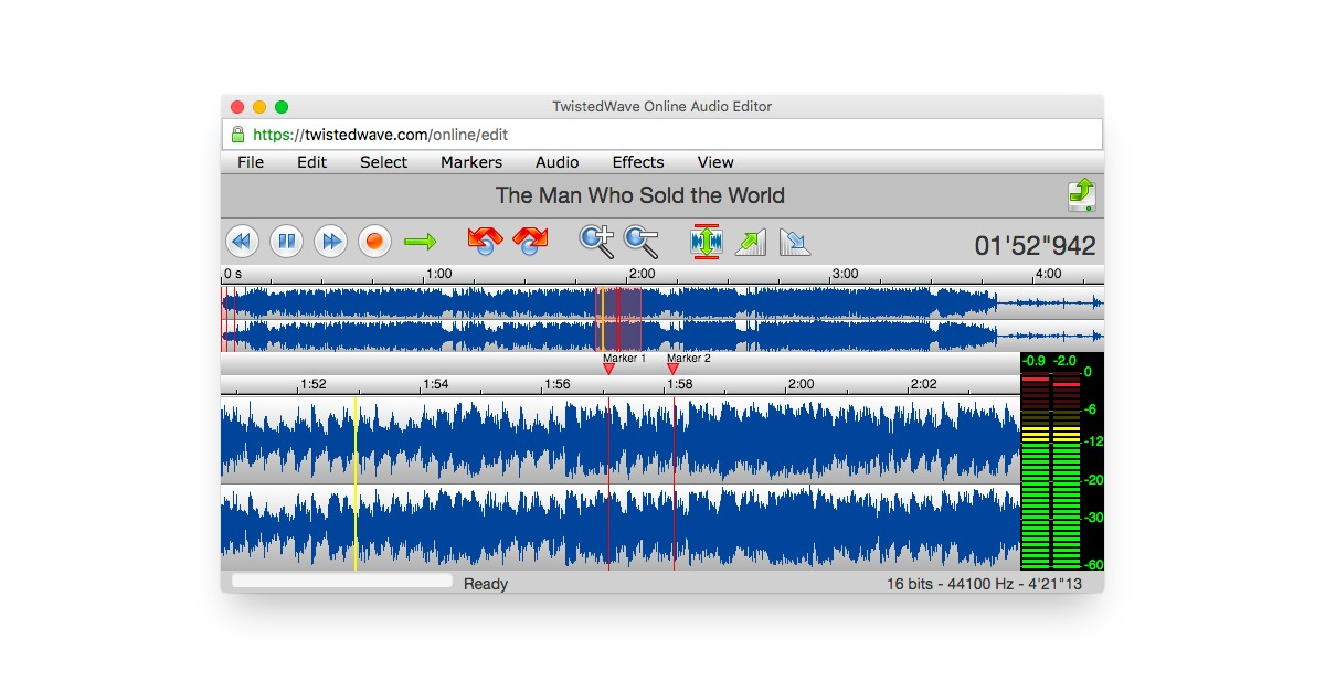 twisted wave online audio editor
