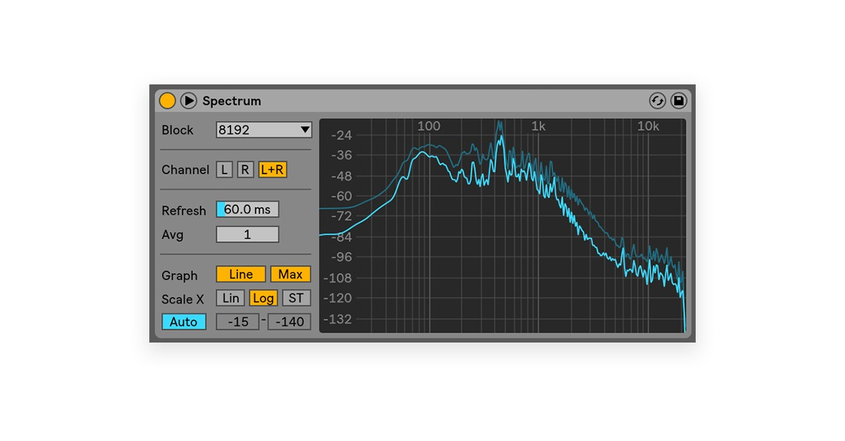 ableton spectrum analyzer