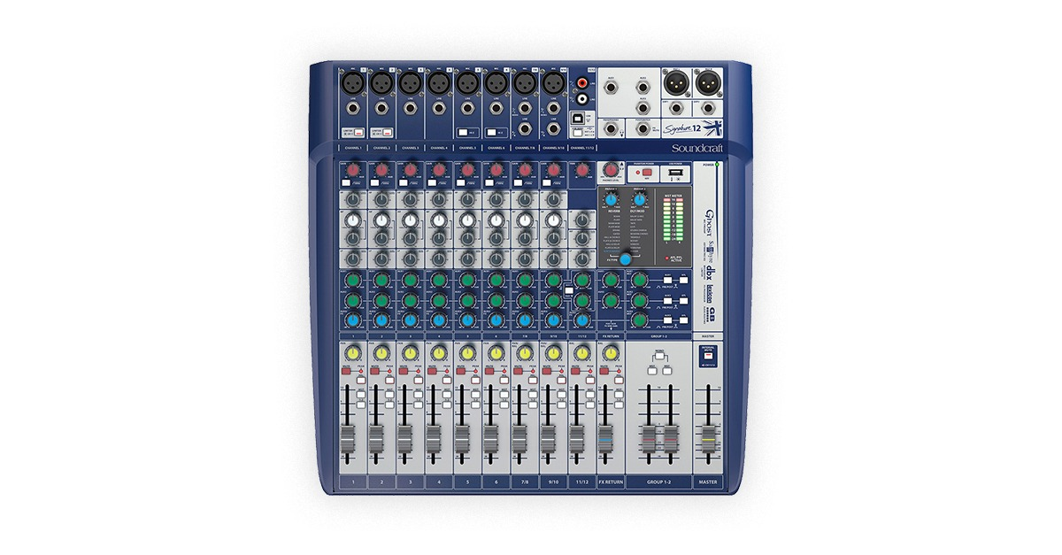 soundcraft signature analog mixers