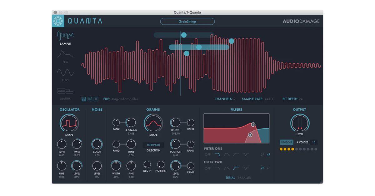 audio damage quanta granular synthesis plugin